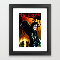 The Crow - Colored Sketch Framed Art Print