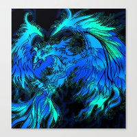 blue phoenix Canvas Print