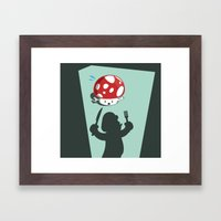Oh No! It's Mario! Framed Art Print