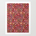 I Heart Patterns Art Print