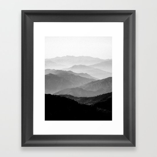 Mountain Mist Black And White Collection Framed Art