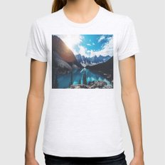 Lake Moraine Womens Fitted Tee Ash Grey SMALL