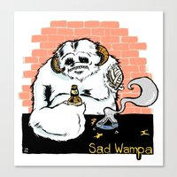 Sad Wampa Canvas Print