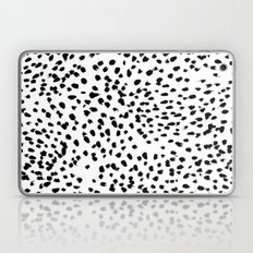 Nadia - Black and White, Animal Print, Dalmatian Spot, Spots, Dots, BW Laptop & iPad Skin