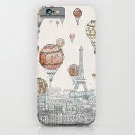 iPhone & iPod Case featuring Voyages Over Paris by David Fleck