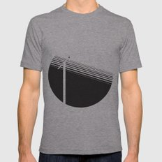 electricity Mens Fitted Tee Athletic Grey SMALL