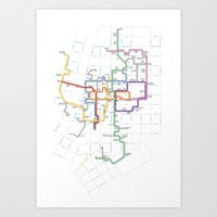 Minneapolis Skyway Map Art Print