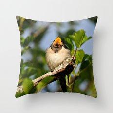 Singing swallow Throw Pillow