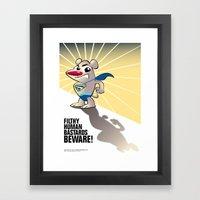 Super Polar Bear Framed Art Print