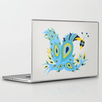 peacock Laptop & iPad Skins featuring Peacock by Cat Coquillette