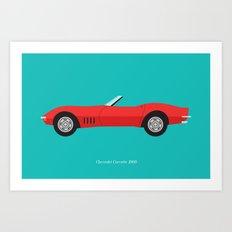 Chevrolet Corvette 1968 Art Print