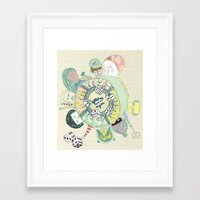 GAMBLING DAY Framed Art Print