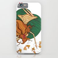 iPhone & iPod Case featuring Girl and fish by Tatiana Obukhovich