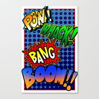 COMIC SOUNDS Canvas Print