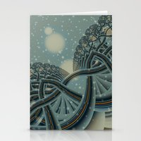 Celtic Winter Forest Stationery Cards