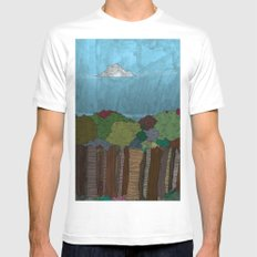 BigFoot Forest (Colour) Mens Fitted Tee White SMALL