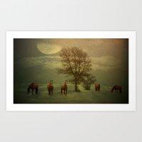 A Winters Evening Art Print