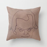 One line Shining Throw Pillow