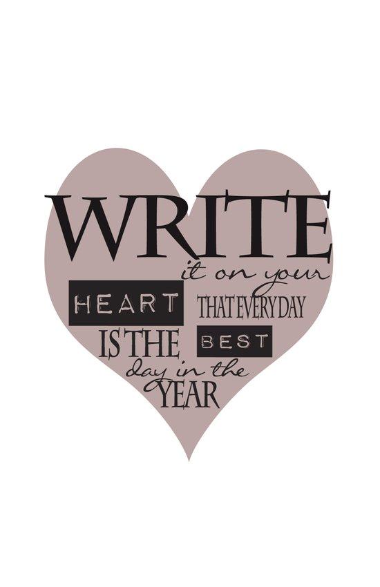 Write It On Your Heart Design Art Print