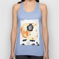 Illustration with black and white Unisex Tank Top