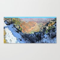 Snowy Grand Canyon South Rim Panorama Canvas Print