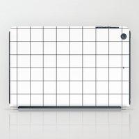 Black And White Grid Wat… iPad Case