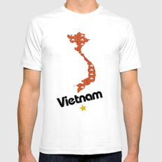 Vietnam, Come for Peace SMALL White Mens Fitted Tee