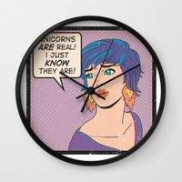 Unicorns Wall Clock