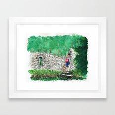 Hiking St. Saviour Framed Art Print