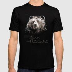 Bear (BornInNature) Mens Fitted Tee Black SMALL