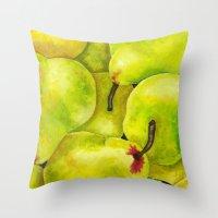 Fresh Pears Throw Pillow