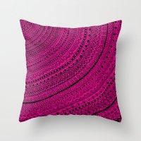 Hot Pink Pulse O4. Throw Pillow