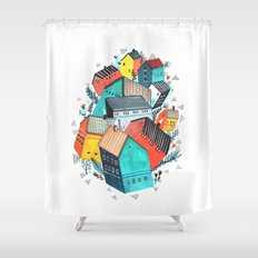 Tumble Town  Shower Curtain