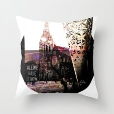 Christchurch - All We Have is Now by Debbie Porter - Designs of an Eclectique Heart Throw Pillow