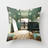 Emergency Door Throw Pillow