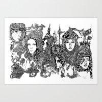 LADIES ON MARS Art Print
