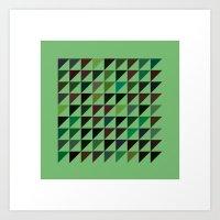 #71 Flags – Geometry D… Art Print