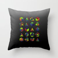 Sacred Shapes & Colors Throw Pillow