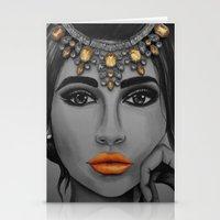 Tangerine Sky Goddess - … Stationery Cards