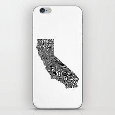 Typographic California iPhone & iPod Skin