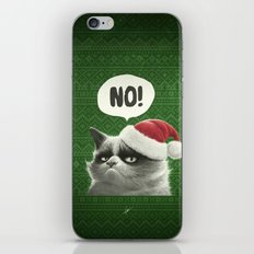 Grumpy Xmas iPhone & iPod Skin