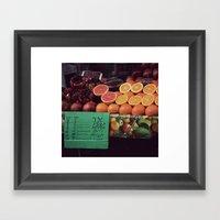 Fresh Orange Juice Framed Art Print