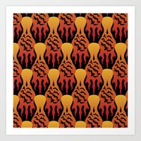 SCORCH Pattern [BLACK] Art Print