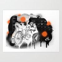 Bo-bo Steals A Ride... Art Print