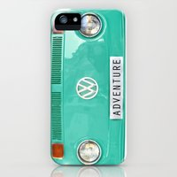 iPhone 5s & iPhone 5 Cases featuring Adventure wolkswagen. Summer dreams. Green by Guido Montañés