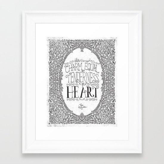 TENDERNESS OF HEART Framed Art Print