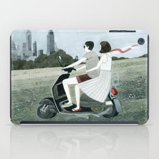 Couple On Scooter iPad Case