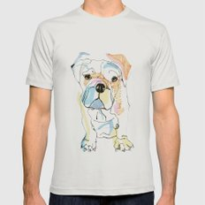 Bulldog Colour Mens Fitted Tee Silver SMALL