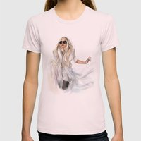 Mother Monster in  NYC Womens Fitted Tee Light Pink SMALL