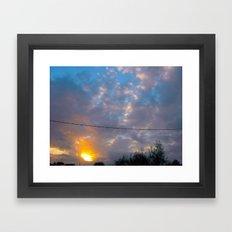 Sunset from my house 3 Framed Art Print